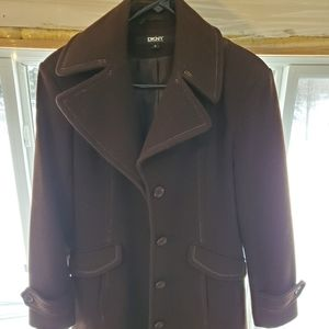 Brown DKNY Peacoat